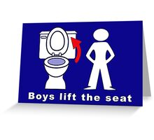Boys Lift the Seat T-Shirt & More Greeting Card