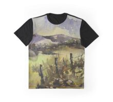 Sunrise over a winter landscape Graphic T-Shirt