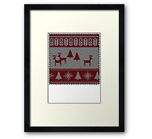 Ugly Christmas stitched sweater Framed Print