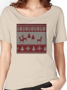 Ugly Christmas stitched sweater Women's Relaxed Fit T-Shirt