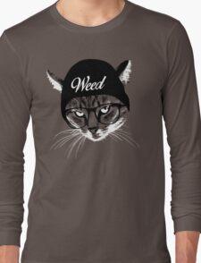 Weed Cat Long Sleeve T-Shirt