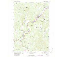 USGS TOPO Map New Hampshire NH Lisbon 460056 1967 24000 Photographic Print