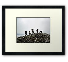 Camping on the Coast Framed Print