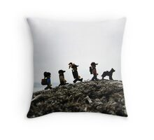Camping on the Coast Throw Pillow