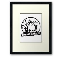 Zombie Attack! Framed Print