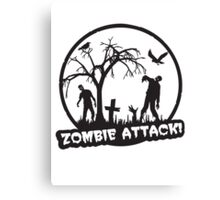 Zombie Attack! Canvas Print