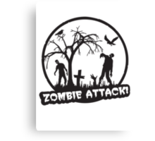 Zombie Attack! Canvas Print