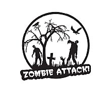 Zombie Attack! Photographic Print