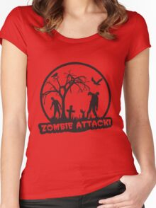 Zombie Attack! Women's Fitted Scoop T-Shirt
