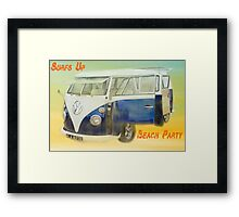 VW Beach Party Framed Print