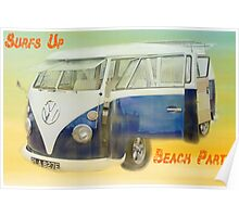 VW Beach Party Poster