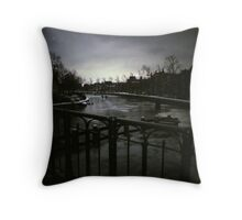 Winter 2012 - Skating on a Dutch Canal Throw Pillow