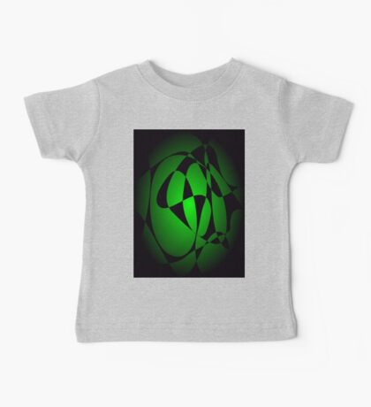 Black and Green Baby Tee
