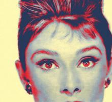 Audrey Hepburn in  Breakfast at Tiffany's Sticker