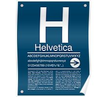 Helvetica Type Specimen Poster