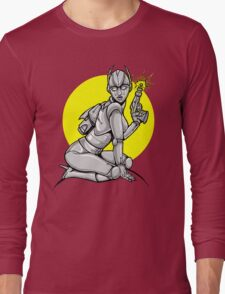 Robot Pinup Long Sleeve T-Shirt