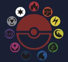 Pokemon TCG Types by JD  Rowe