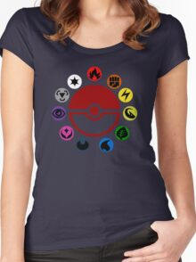 Pokemon TCG Types Women's Fitted Scoop T-Shirt