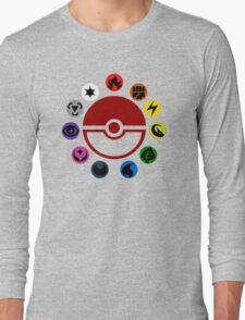 Pokemon TCG Types Long Sleeve T-Shirt