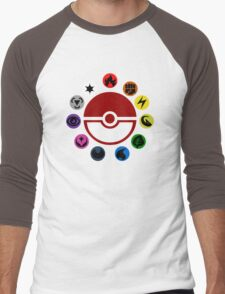 Pokemon TCG Types Men's Baseball ¾ T-Shirt