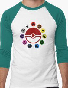 Pokemon TCG Types Men's Baseball ¾ T-Shirt