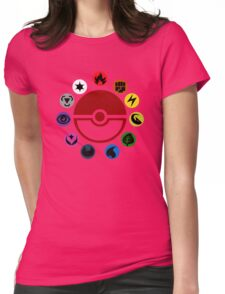 Pokemon TCG Types Womens Fitted T-Shirt