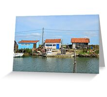 La Tremblade, site ostriecole, Charente Maritime, France Greeting Card