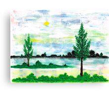 LANDSCAPE IN ACRYLIC COLOUR Canvas Print