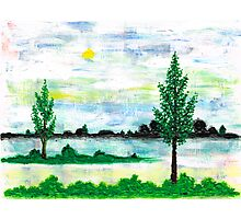LANDSCAPE IN ACRYLIC COLOUR Photographic Print