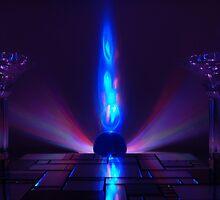Crystal Galaxies Blue by Mark-deClare
