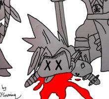 Sephiroth Kills Cloud - Sacrifice Of Cloud Sticker