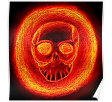Burnnig skull Poster