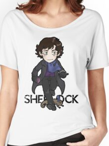 Sherlock Holmes, consulting detective and Otter with scarf. Women's Relaxed Fit T-Shirt
