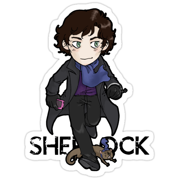 Sherlock Holmes, consulting detective and Otter with scarf. by Quezsam