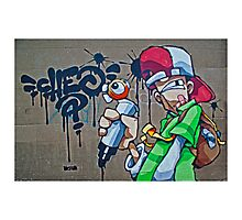 The scribbler street art- Cheo Photographic Print