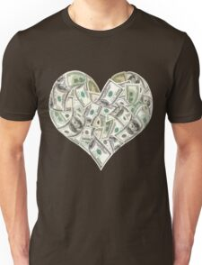 Dollars Heart Unisex T-Shirt