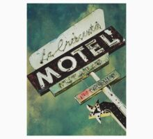 La Crescenta Vintage Motel Sign Kids Tee