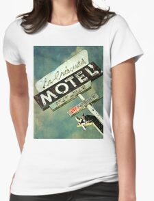 La Crescenta Vintage Motel Sign Womens Fitted T-Shirt