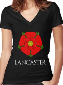 The House of Lancaster - with text Women's Fitted V-Neck T-Shirt