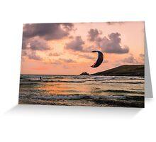 Lone Kite Surfer Greeting Card