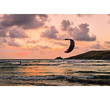 Lone Kite Surfer Photographic Print