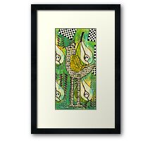The Queen of Pears Framed Print