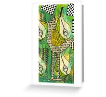 The Queen of Pears Greeting Card