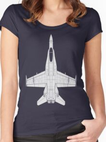 McDonnell Douglas F-18 Hornet Women's Fitted Scoop T-Shirt