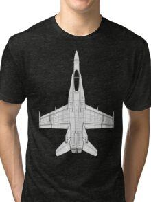 McDonnell Douglas F-18 Hornet Tri-blend T-Shirt