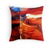 Patriotic Quarter Horse Art Throw Pillow