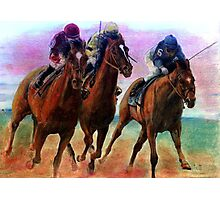 Thoroughbred Racehorse Racing Colors Photographic Print