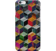 Vintage Geometric Cubes iPhone Case/Skin