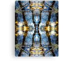 Aquatic Lace Canvas Print