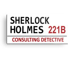 Sherlock Holmes Street Sign Metal Print
